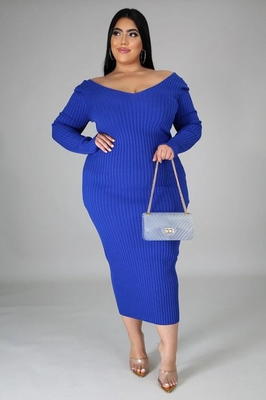 BNB Curves Royalty Plus Sweater Dress
