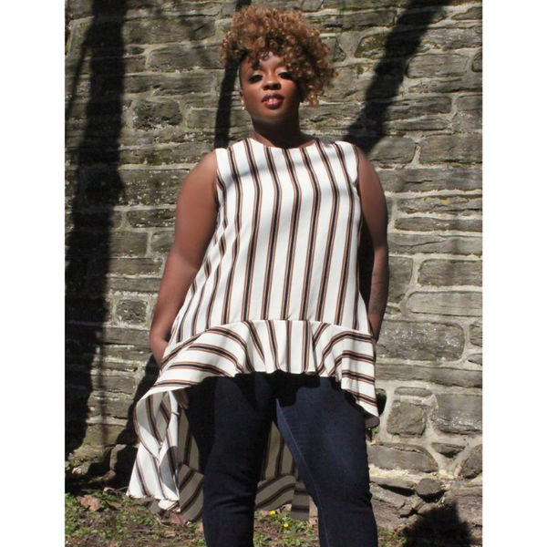 Socialite Stripe Plus Tunic