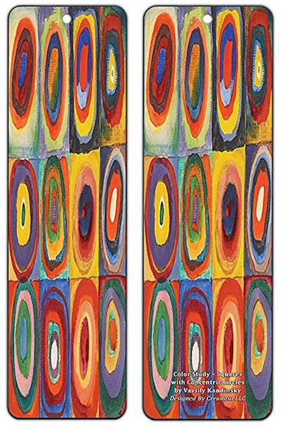 Color study - Squares with concentric circles
