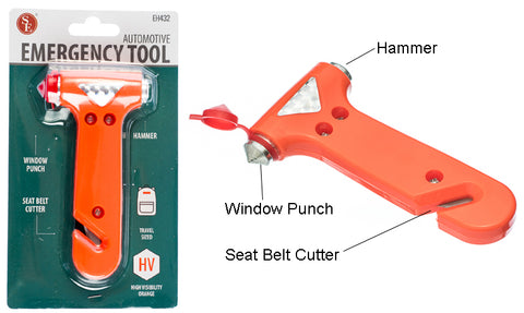 "5""/3-1 Automotive Emergency Tool-Seat Belt Cutter,Window Punch & Hammer"