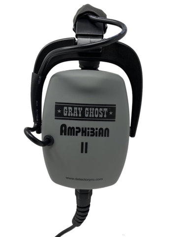 DETECTORPRO GRAY GHOST AMPHIBIAN HEADPHONES FOR MINELAB EQUINOX