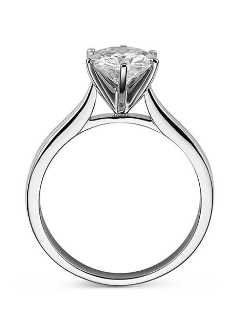 Forever Brilliant Moissanite 1.50ct Solitaire Ring in 14k White Gold