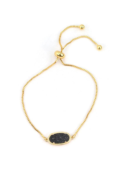 Alicia Oval Bracelet Druzy in Gold