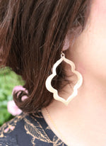 CJ Large Brushed Silver Earrings