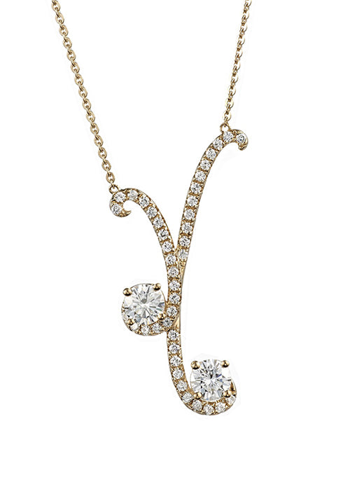 Forever Brilliant Moissanite 1.63ct Fashion Necklace in 14k Gold