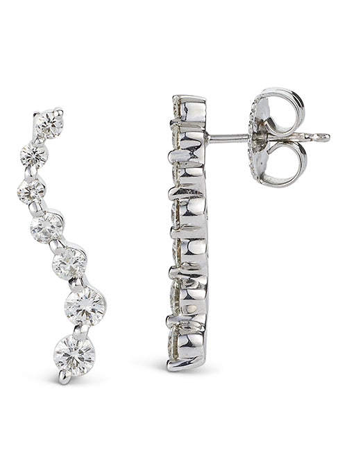 Forever Brilliant Moissanite 0.82ct Fashion Earrings in Sterling Silver
