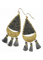 Imelda Gray Beaded Earrings