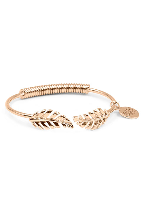 Rose Gold Laurel Leaf Bracelet