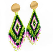 Anitha Beaded Earrings in Green