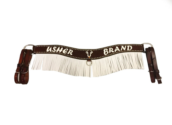"3"" Rough Out Usher Brand Tripping Collar with Fringe; UBTC-003"