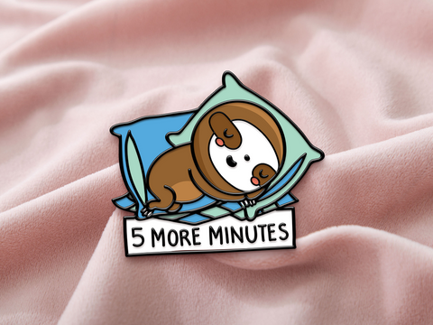 5 more minutes - Enamel Pin