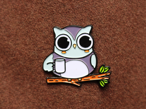 Coffee owl - Enamel Pin