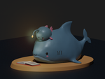 Reading Shark - toy / lamp (Pre-order)