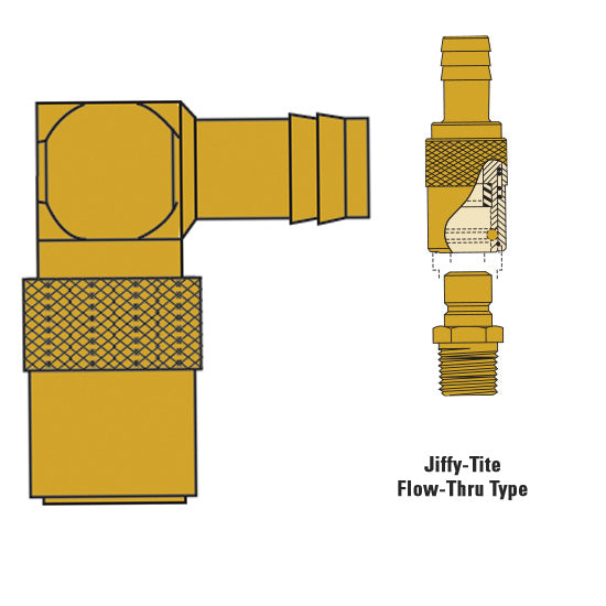 Hose fitting 1/4