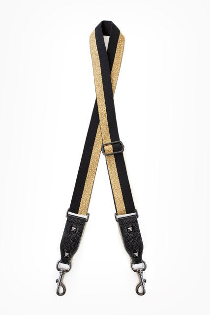 Antler Bag Strap - Black and Gold