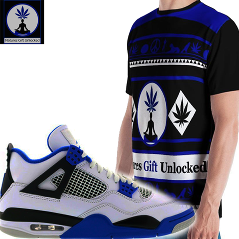 shirt to match jordan 4 black and blue