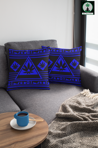 blue pillow for couch