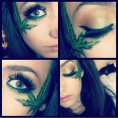 weed themed makeup