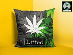 weed leaf pillow