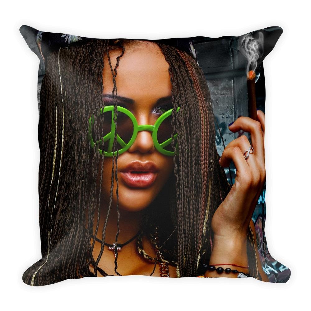 Cool Weed Pillow Bright Vivid Colors Weed Room Ideas - 420 Weed Shirts