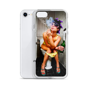 Lit iPhone Case Featuring Girl Smoking Weed on Toilet Shop - 420 Weed Shirts