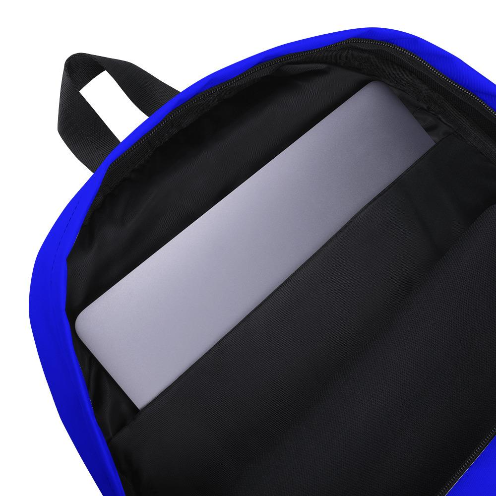 inside pocket blue bookbag