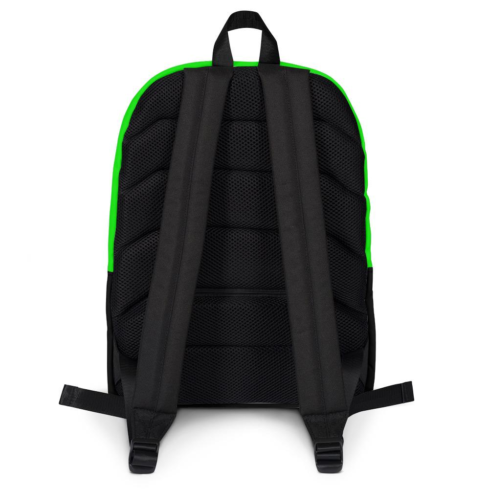 Green & Black Weed Themed Backpack, Only Found Here - 420 Weed Shirts