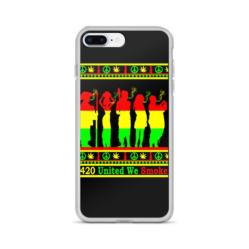 Best Stoner iPhone Cases FT Rasta Colors Lit Phone Cases - 420 Weed Shirts