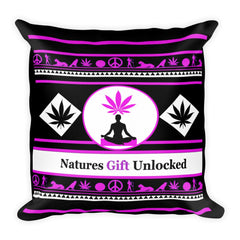 pink weed pillow