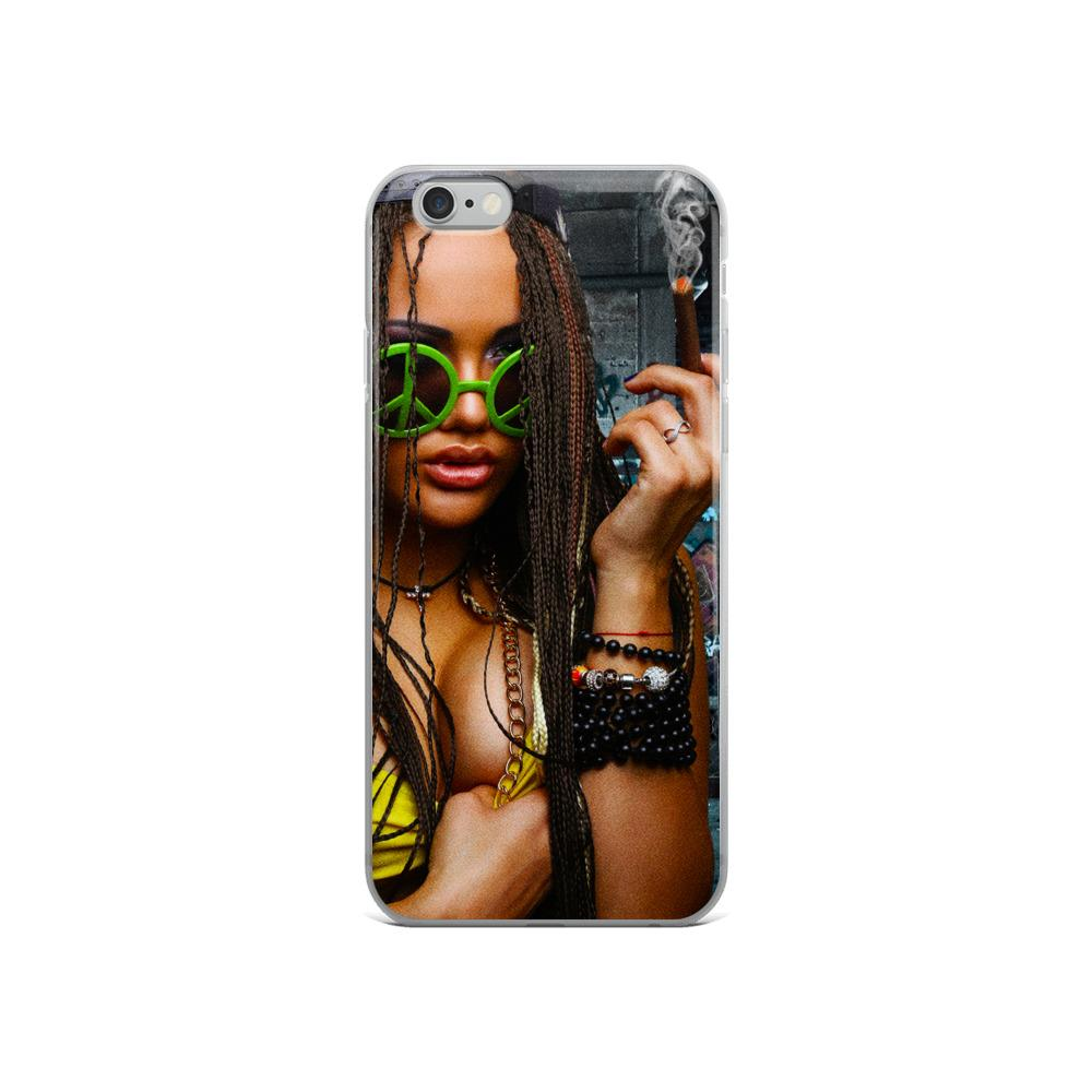 girl smoking iphone 7 case