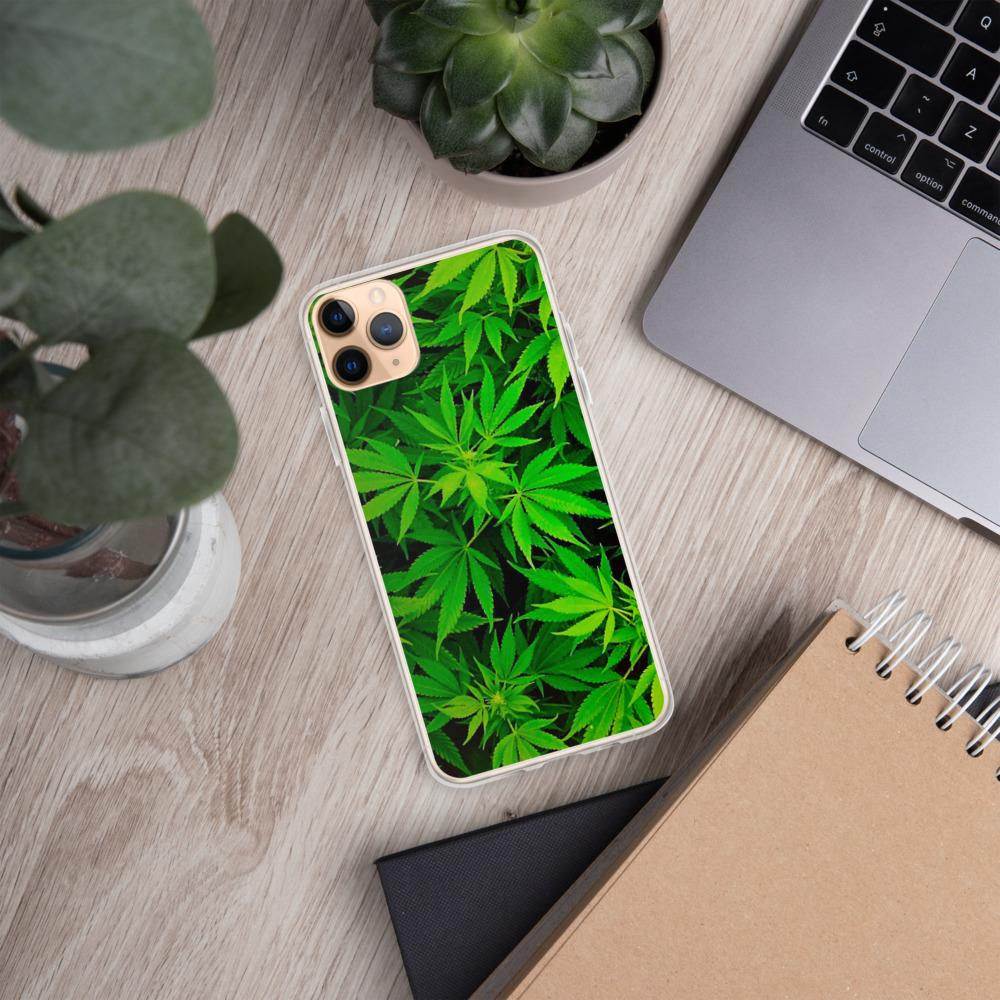 Dope iPhone Cases Bright Green Weed leaf iPhone Case Shop