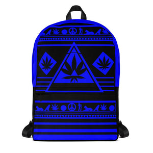 stoner backpack blue and black