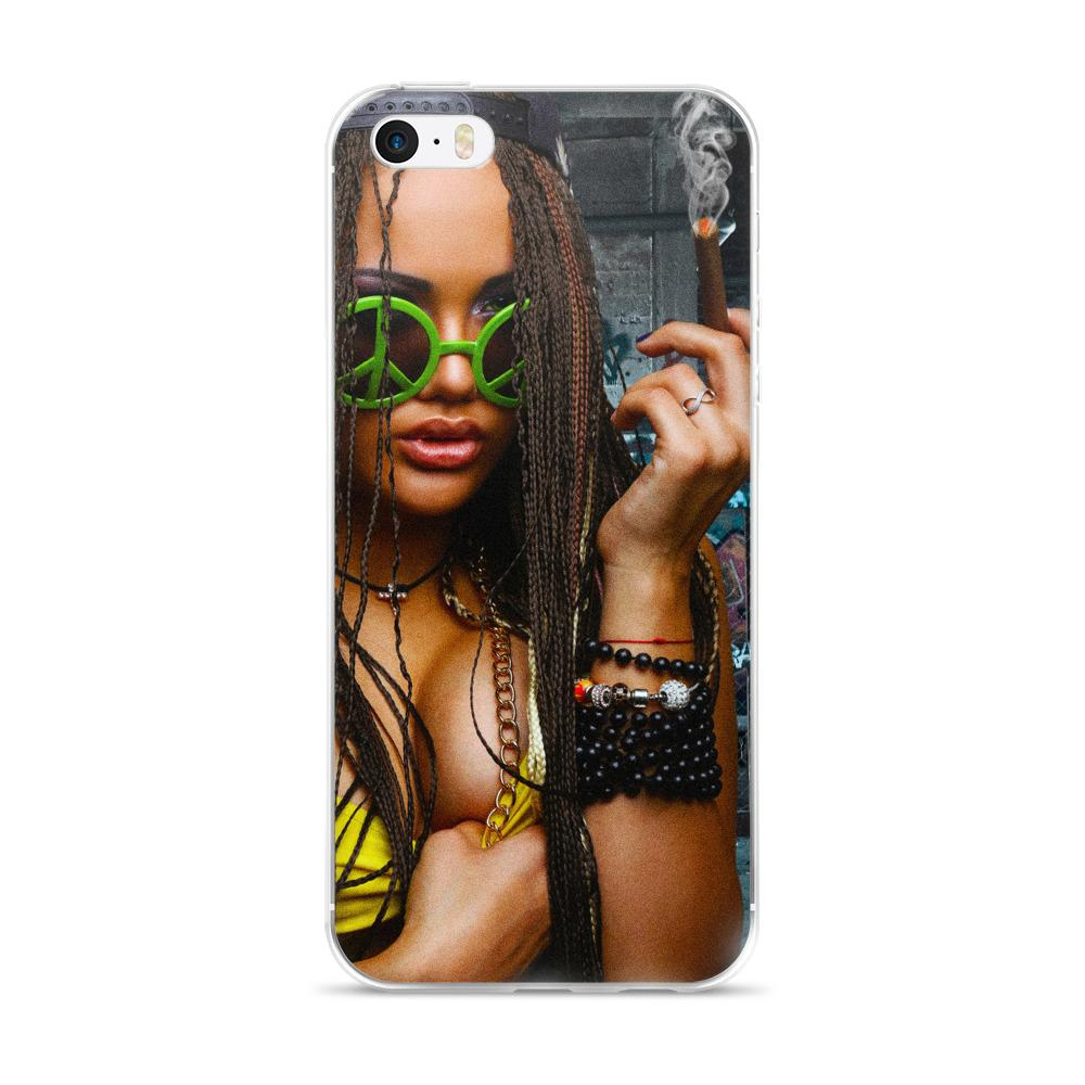 girl smoking iphone case