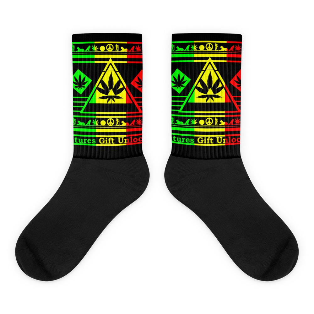 colorful weed socks