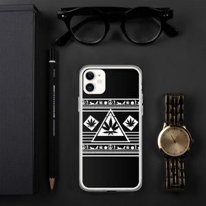 420 Phone Case Lit Egyptian Design Black Pyramid Phone Case