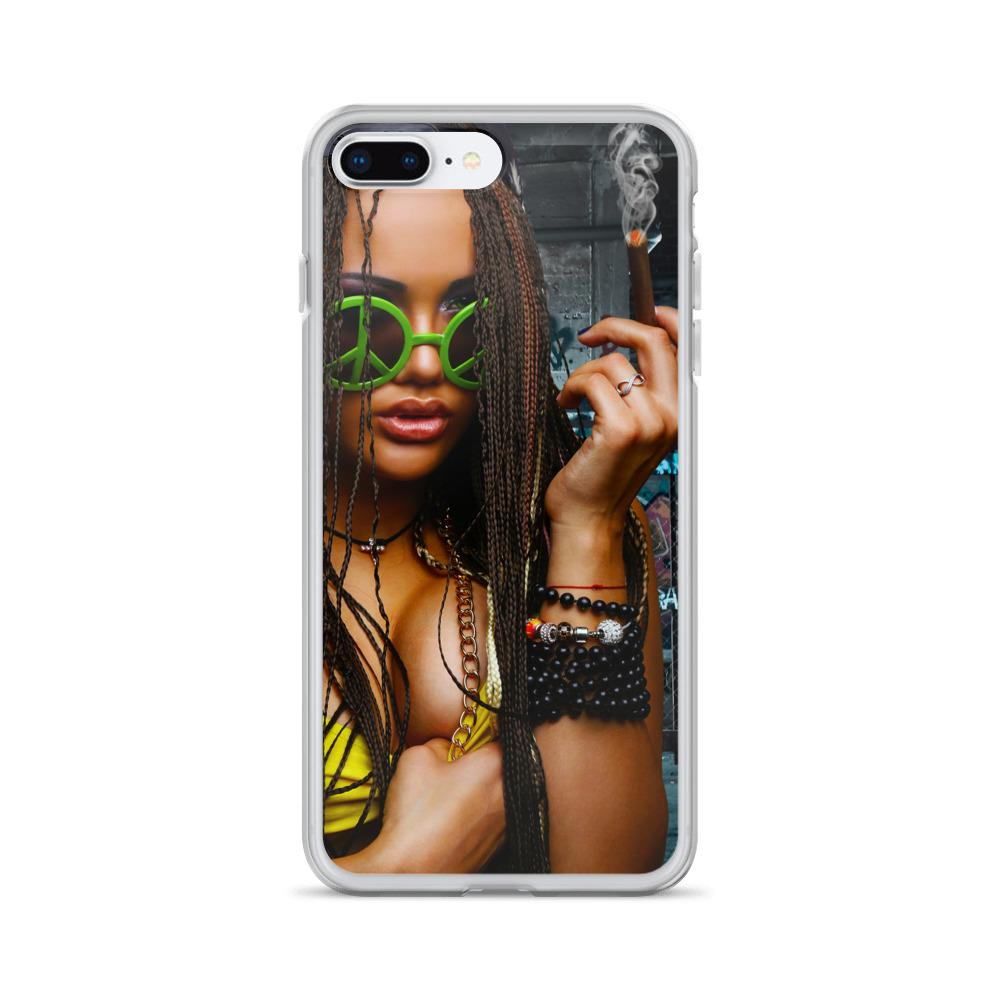girl smoking iphone x case