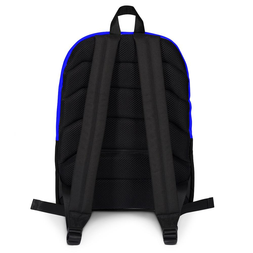 back straps on bookbag black