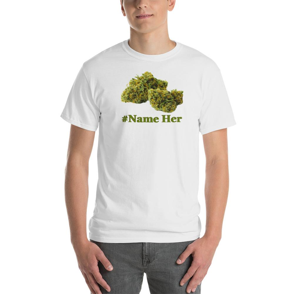 white shirt with weed nug