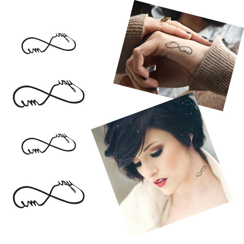 3 Set Love Infinity Waterproof Temporary Tattoo