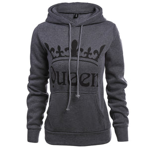 Knitted King Queen Couples Hoodies