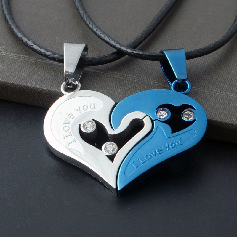 Two in one I Love You Heart Pendant Necklace