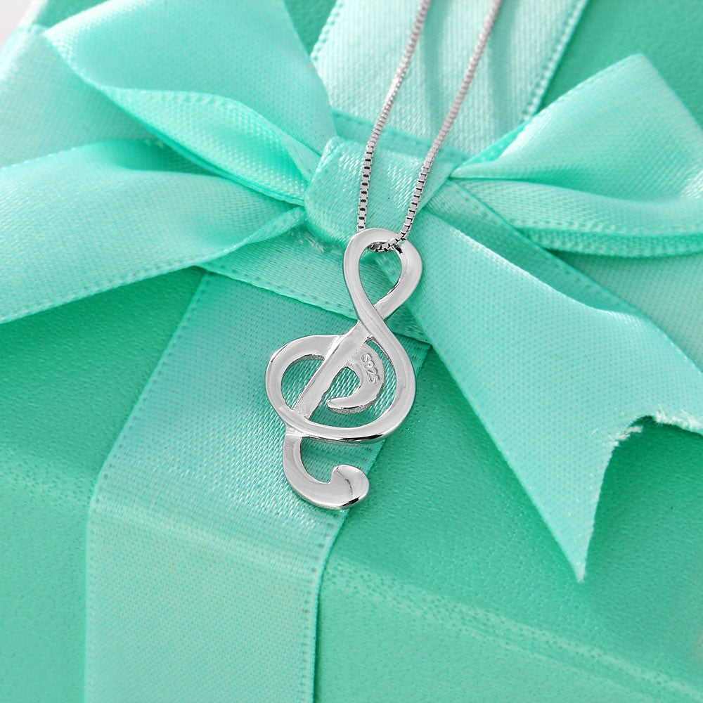 Sterling Silver Musical Note Necklace