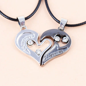 Two in one i love you heart pendant necklace k and d apparel two in one i love you heart pendant necklace aloadofball Image collections
