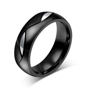 Stainless Steal Black Promise Rings