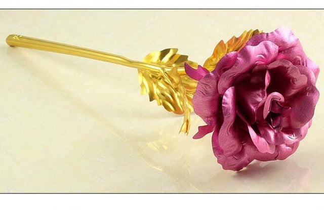Foil Plated Gold Rose