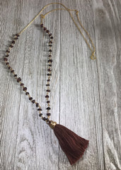 Garnet Chain Link with Tassel - SentimentalGems