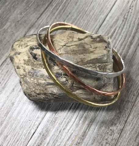 Copper Sterling Silver And Brass