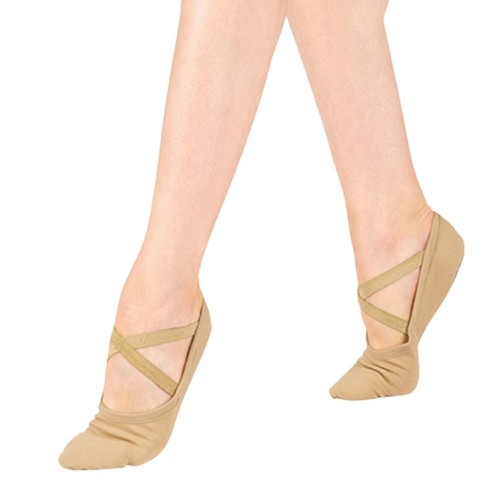 30% Off Tan Canvas Ballet