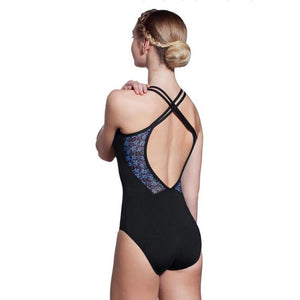 Ruby Blue Printed Halter - St. Louis Dancewear - Lulli