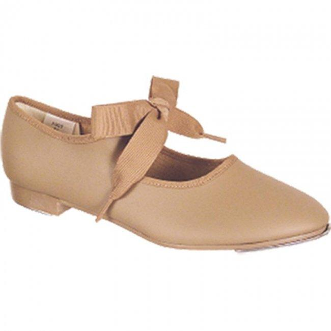 Tan Jr Beat Ribbon Tap Shoes - St. Louis Dancewear - Leo